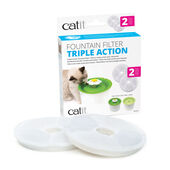 Catit 2.0 Cat Fountain Filter Triple Action Cartridge 2 Pack