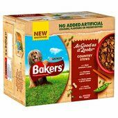16 x Bakers As Good As It Looks Country Stews With Beef Chicken Duck Lamb 200g