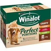 48 x Winalot Pouch Adult Dog Selection In Gravy Chicken & Carrots Beef & Pots And Lamb & Carrots 100g