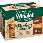 48 x Winalot Pouch Adult Dog Selection In Gravy Chicken And Carrots 100g