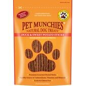 8 x Pet Munchies Duck And Sweet Potato Dental Stick Natural Dog Treats 90g