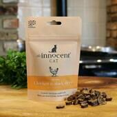 10 x The Innocent Cat Chicken And Duck Slices With Catnip 70g