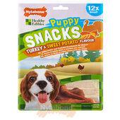 Nylabone Puppy Snacks Turkey & Sweet Potato (12 per pack) - Small