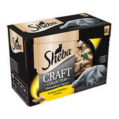 48 Sheba Craft Cat Food Pouch - Poultry Selection In Gravy 85g