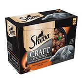 48 x Sheba Craft Cat Food Pouch - Succulent Selection In Gravy 85g