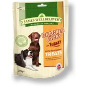 James Wellbeloved Crackerjacks Turkey Hypoallergenic Dog Treats - 225g