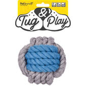 3 x Tug & Play Cotton Knotted Rope Cannon Ball Dog Toy