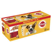 40 x Pedigree Dog Pouches Mixed Selection In Jelly 100g