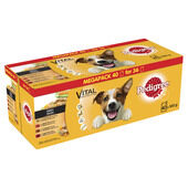 40 Pedigree Dog Pouches Mixed Selection In Gravy 100g