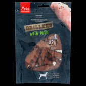 10 x Pets Unlimited Grillers Dog Treat - Duck 100g