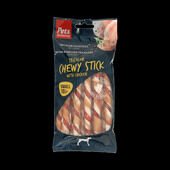 6 x Pets Unlimited Tricolor Chewy Sticks Dog Treats Small - Chicken 10 Pieces