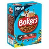Bakers Adult Small Dog Food Rich in Beef with Country Vegetables