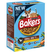 Bakers Adult Small Dog Food Rich in Chicken with Country Vegetables