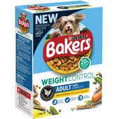 Bakers Adult Weight Control Dog Food Rich in Chicken with Country Vegetables