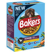 Bakers Senior Dog Food Rich in Chicken with Country Vegetables