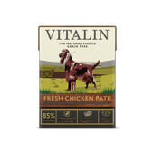 12 x Vitalin Natural Tetra Pak Fresh Chicken Pate 400g