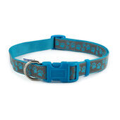Fashion Nylon Adjustable Collar Blue Paw Sz5-9 45-70cm
