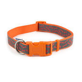 Fashion Nylon Adjustable Collar Orange Bone Sz5-9 45-70cm