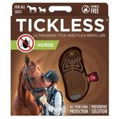 Tickless Horse Ultrasonic Tick and Flea Repeller in Brown
