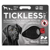 Tickless Pet Ultrasonic Tick and Flea Repeller in Black