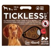Tickless Pet Ultrasonic Tick and Flea Repeller in Brown
