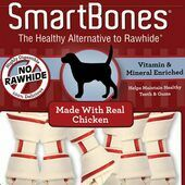 7 x Smartbones Chicken Mini Dog Treats in a Pack of 8