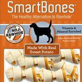 7 x Smartbones Sweet Potato Mini Dog Treats in a Pack of 8