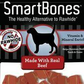 7 x Smartbones Beef Mini Dog Treats in a Pack of 8