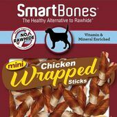 8 x Smartbones Chicken Wrapped Mini Sticks Dog Treats in a Pack of 9