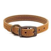 Timberwolf Leather Dog Collar in Mustard 39-48cm Size 5