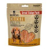 6 x Rosewood Natural Eats Chicken Fillets Value Pack Dog Treats 400g