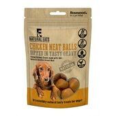 12 x Rosewood Natural Eats Chicken Meat Balls Dog Treats 100g