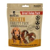 6 x Rosewood Natural Eats Chicken Variety Value Pack Dog Treats 320g