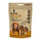 12 x Rosewood Natural Eats Chicken Twists Dog Treats 80g
