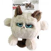 Grumpy Cat Head Dog Toy 20cm