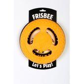 Kiwi Walker Let's Play! Rubber Foam Dog Frisbee in Orange
