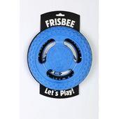 Kiwi Walker Let's Play! Rubber Foam Dog Frisbee in Blue