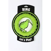 Kiwi Walker Let's Play! Rubber Foam Dog Ring in Lime