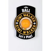 Kiwi Walker Let\'s Play! Rubber Foam Dog Ball in Orange