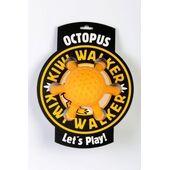 Kiwi Walker Let's Play! Rubber Foam Octopus Dog Toy in Orange