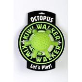 Kiwi Walker Let's Play! Rubber Foam Octopus Dog Toy in Lime