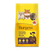 3 x Burgess Hamster, Gerbil & Mouse Nugget Food 750g