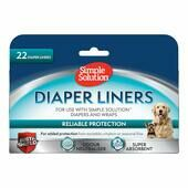 Simple Solution Dog Diaper Liners - 22 Pack