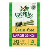 6 x Greenies Grain Free Large Dog Dental Treats 170g