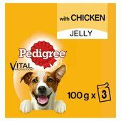 42 x Pedigree Dog Food Pouches With Chicken In Jelly 100g