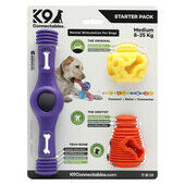 K9 Connectables Starter Pack Stimulating Dog Toy Purple/Yellow/Orange