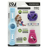 K9 Connectables Starter Pack Stimulating Dog Toy Blue/Purple/Pink