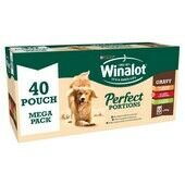 40 x Winalot Perfect Portions Adult Dog Food Beef, Chicken & Lamb In Gravy 100g