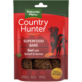 7 x Country Hunter Dog Superfood Bar - Beef with Spinach & Quinoa 100g