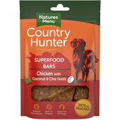 7 x Country Hunter Dog Superfood Bar - Chicken With Coconut & Chia Seeds 100g